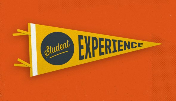 "Banner that says ""Student Experience"""